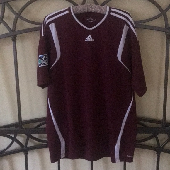 adidas Other - Adidas Men s Soccer Jersey - Burgundy White Size L 890857a6f